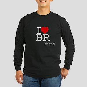 I heart BR [I love Battle Rif Long Sleeve Dark T-S